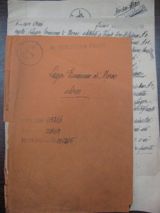 Copertina del fascicolo personale di Ermanno Lager